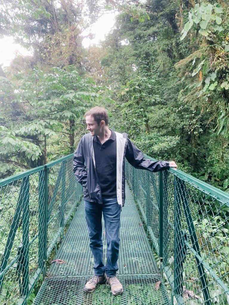 Walking the hanging bridges in Monteverde