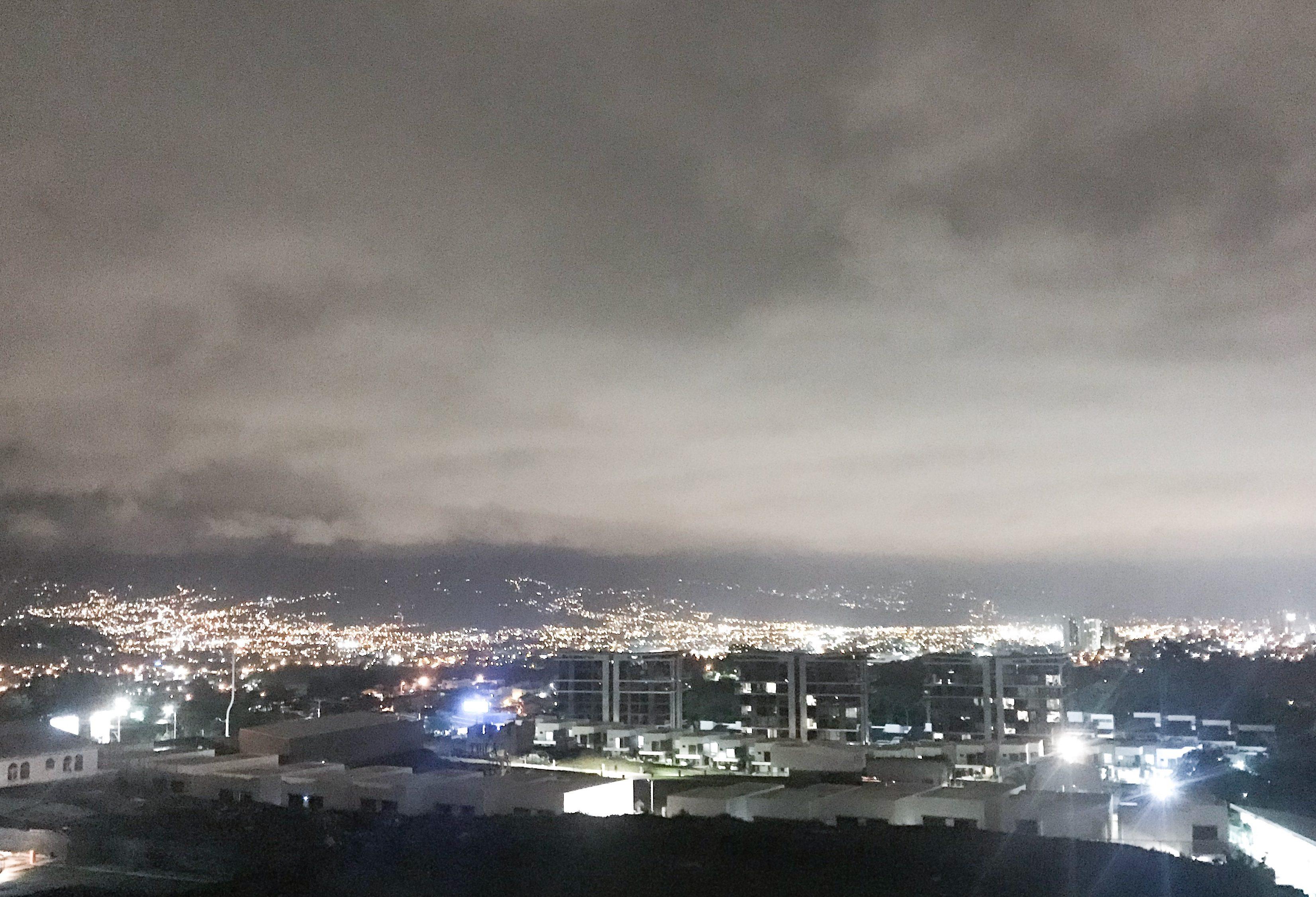 the lights of San Jose at night